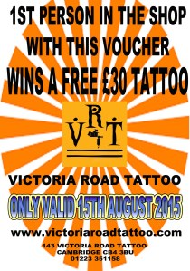 EXCLUSIVE MADNESSSSSSSSSS!!!!!!!!!!!!!! JUST FOR TOMORROW!!! WIN A FREE TATTOO !!